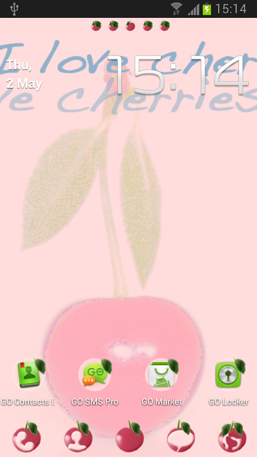 Theme Cherries for GO Launcher- screenshot