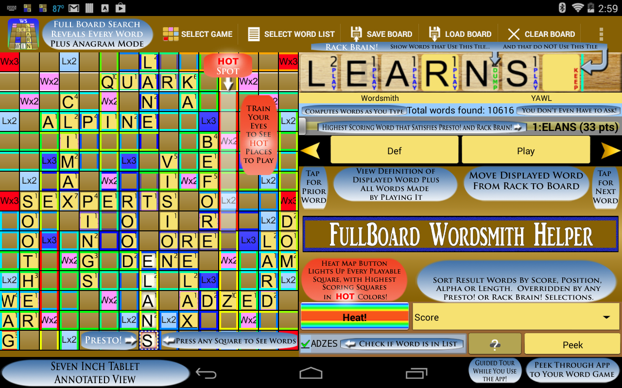 Helper for Wordsmith- screenshot