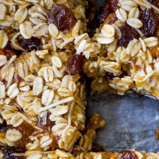 Apricot and Coconut Oat Slice.