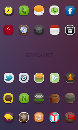 Gradient icon theme