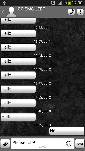 GO短信加强版深灰色