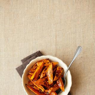 Maple- Roasted Sweet Potato Wedges