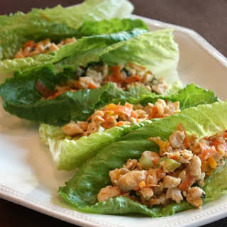 Thai Chicken Lettuce Wraps.