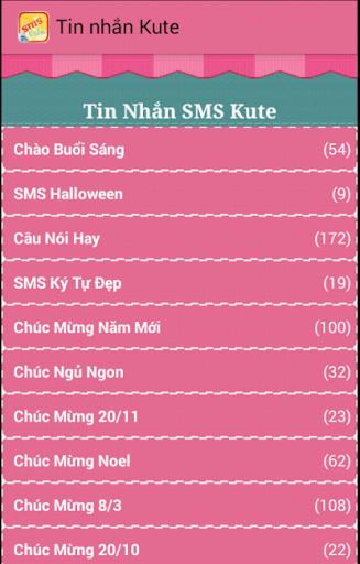 Tin nhắn ký tự SMS kute đẹp