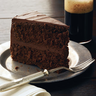 Chocolate Stout Layer Cake with Chocolate Frosting.