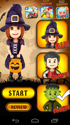 Halloween Girl Dressup Game - screenshot
