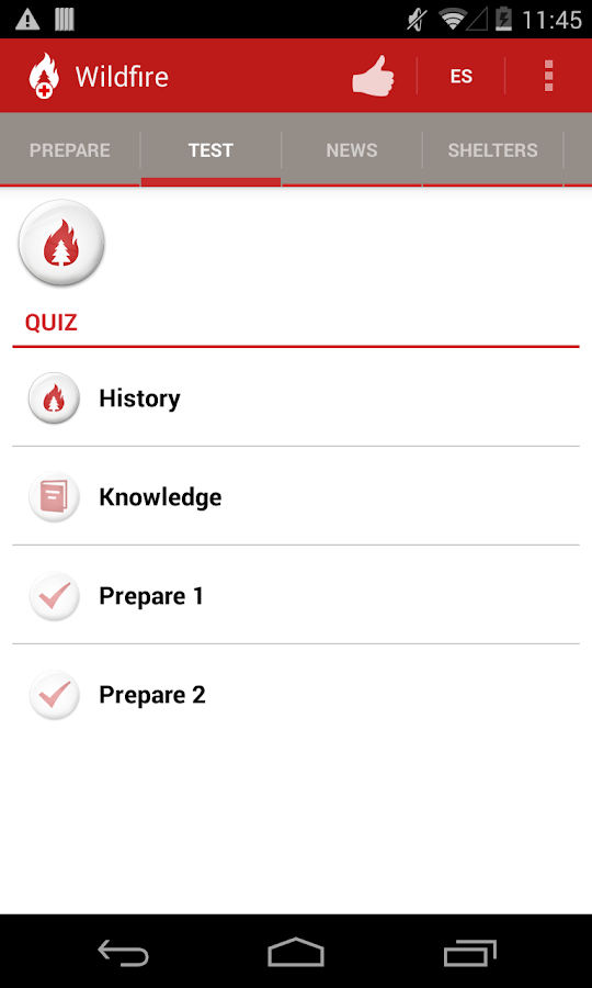 Wildfire - American Red Cross - screenshot