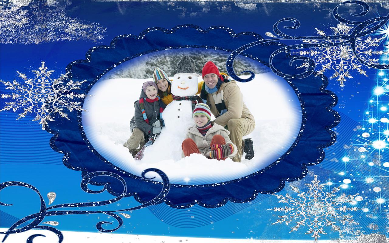 winter photo frames screenshot