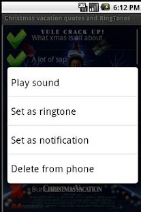 Christmas Vacation Ringtones - screenshot thumbnail