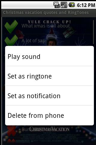 Christmas Vacation Ringtones - screenshot