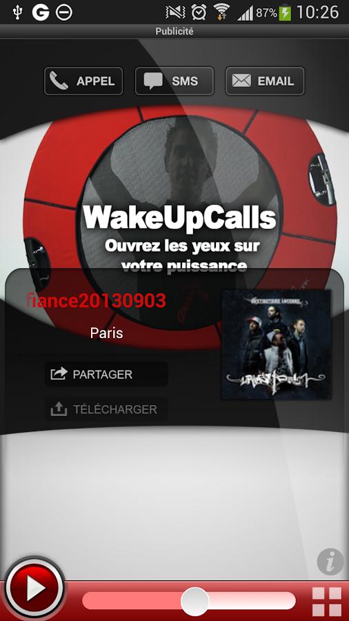WakeUpCalls - screenshot