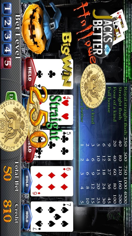 Halloween Poker Slot Machine- screenshot