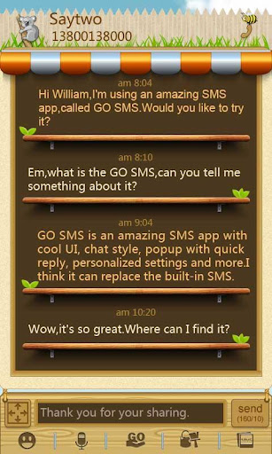 GOSMS Pro Garden Theme v1.0