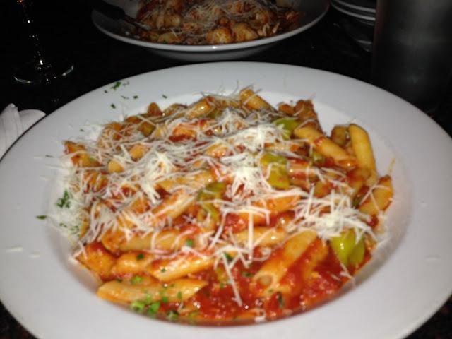 Arabbiata sauce with gf pasta