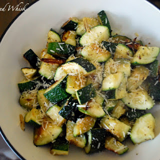 Garlic Roasted Zucchini.