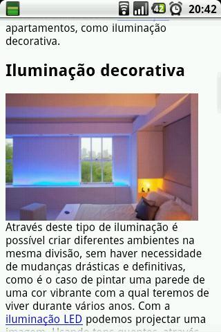Dicas de decoração interiores - screenshot