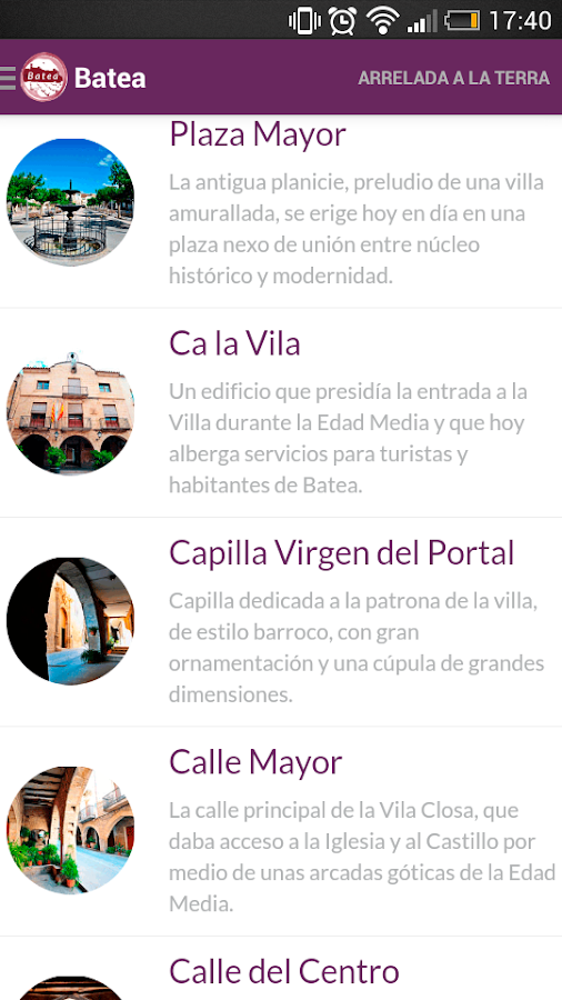 Batea Tourism Audioguide- screenshot