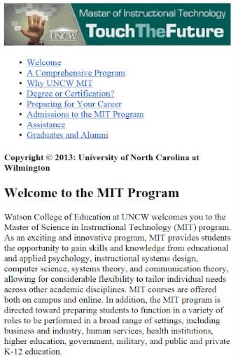 UNCW MIT