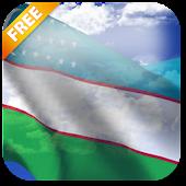 3D Uzbekistan Flag LWP