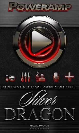 Poweramp Widget Silver Dragon