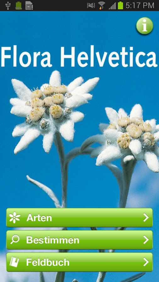 Flora Helvetica Pro Deutsch- screenshot