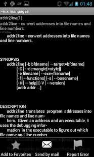 Linux/Unix manpages- screenshot thumbnail