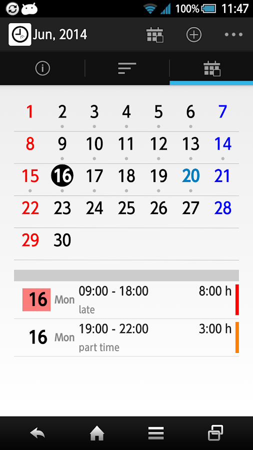 wTimePunch Lite (Timesheet)- screenshot