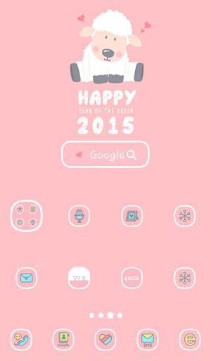 happy2015 양의 해 도돌런처 테마