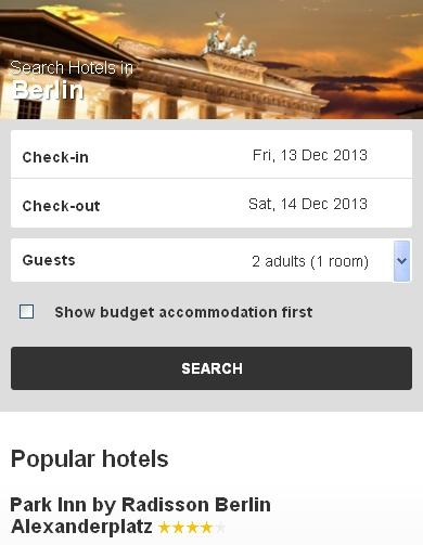 Berlin Hotel booking
