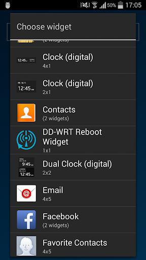 DD-WRT Reboot Widget