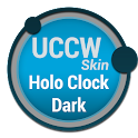 Holo Clock Dark - UCCW Skin icon