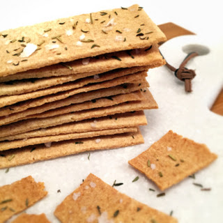 Onion Crackers With Thyme, Rosemary, And Sea Salt