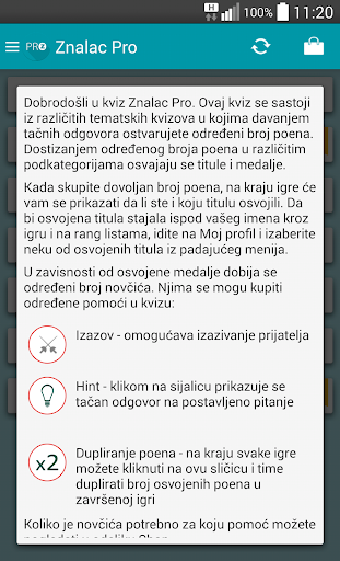 Kviz Znalac Pro