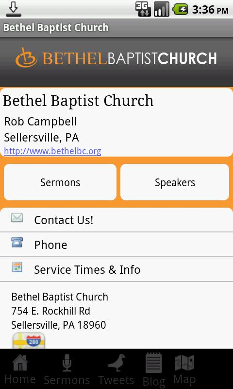 Bethel Baptist Church- screenshot