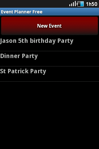 Event Planner- screenshot