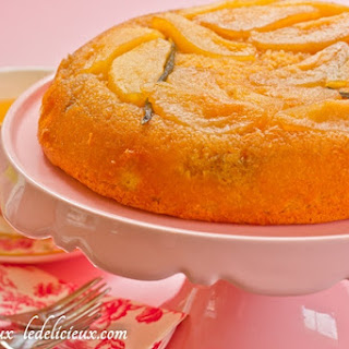 Pear and Vanilla Upside Down Cake.