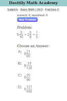Screenshot of Davitily Math Academy