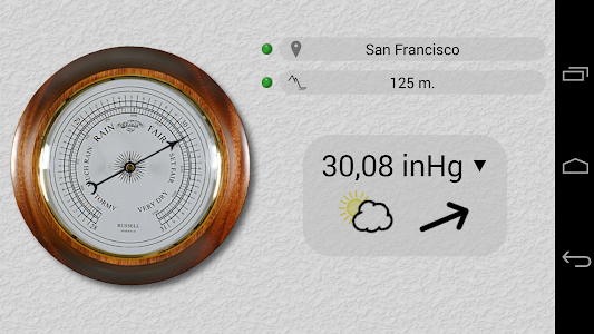 Accurate Barometer Free screenshot 1