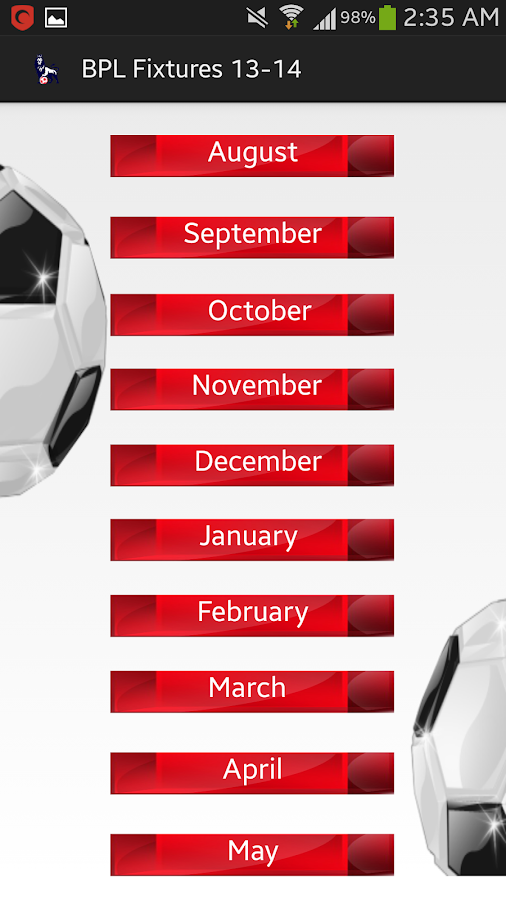 EPL Fixtures 2013-2014 - Aplicativos para Android no Google Play