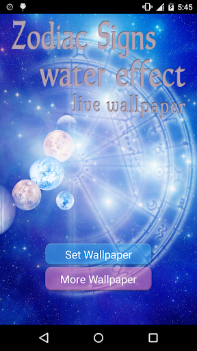 Zodiac Signs Water Effect LWP