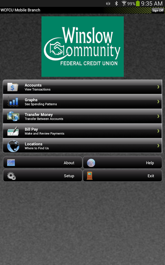 WCFCU Mobile- screenshot