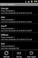 Screenshot of Contact Statistics Full