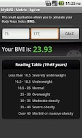 Screenshot of BMI Calculator (free)