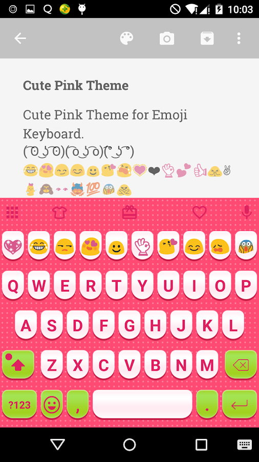 cute pink love emoji keyboard android apps on google play