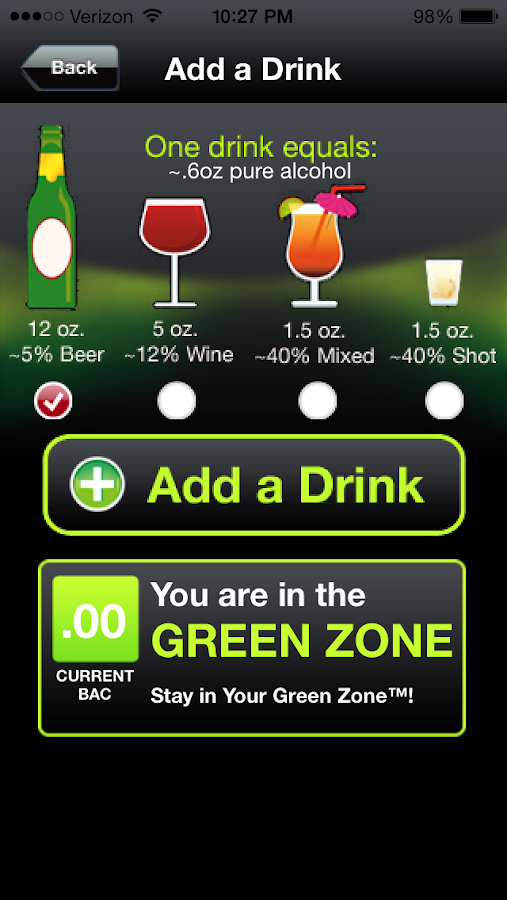 iDrinkSmarter- screenshot
