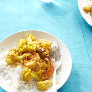 Curried Shrimp and Cauliflower