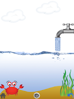 Screenshot of Kids science game with water