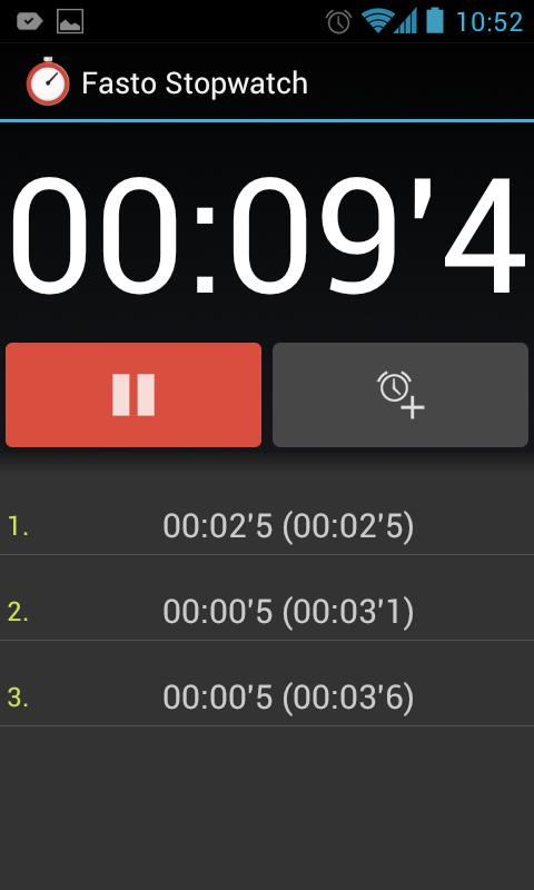 Fasto Stopwatch- screenshot