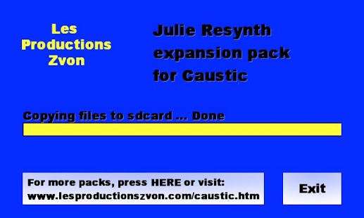 Julie Resynth for Caustic - screenshot thumbnail