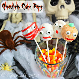 Ghoulish Cake Pops.